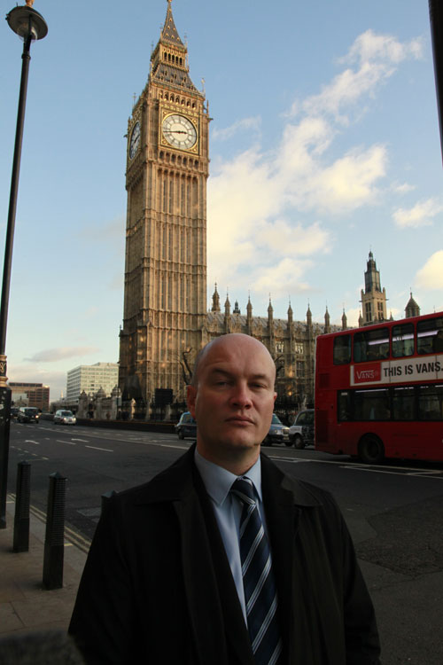 Ciarán MacAirt at Westminster, London